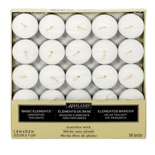 Ashland Basic Elements Tea Lights, 50 Pack White