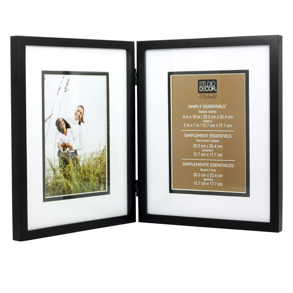Black Hinged Frame 8 Quot X 10 Quot With 5 Quot X 7 Quot Mat Simply