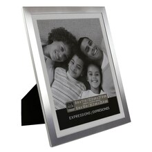 "Studio Décor Expressions Aluminum Frame With Mat, Silver 8"" x 10"""