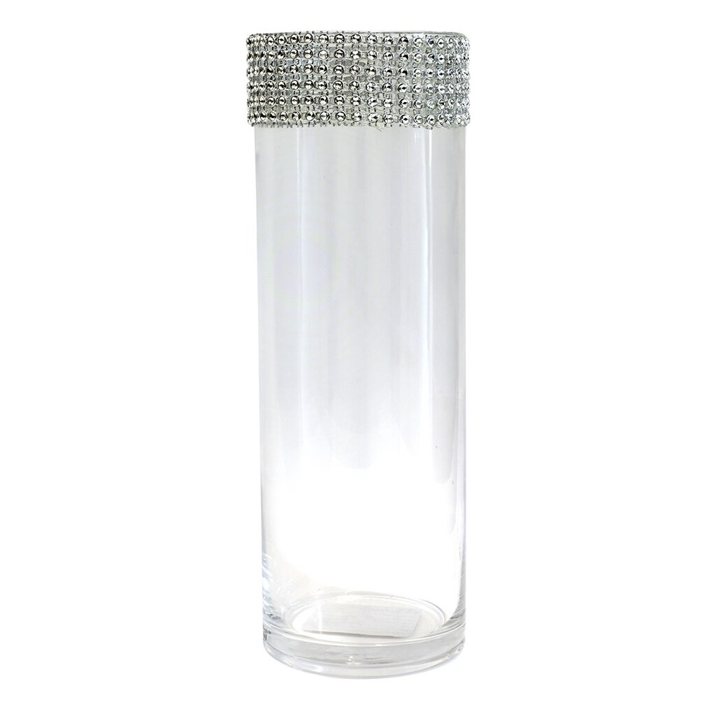 AshlandR Cylinder Glass Vase With Bling