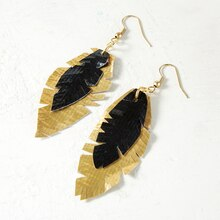 Duck Tape® Feather Earrings, medium