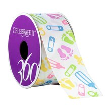 Celebrate It 360 Satin Ribbon, Baby Icons