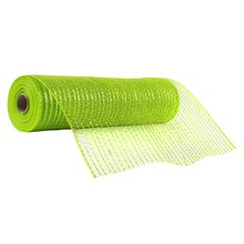 "Celebrate It Occasions Mesh Ribbon, 12"", Lime Green"