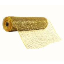 "Celebrate It Occasions Mesh Ribbon, 12"", Gold"