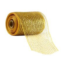 "Celebrate It Occasions Mesh Ribbon, 5 1/2"", Gold"