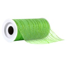 Celebrate It Occasions Tulle, Glitter Wavy Dot, Lime