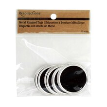 Recollections Craft It Metal Rimmed Tags, Black