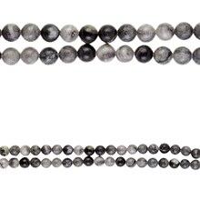 Bead Gallery Round Beads,Stone Black, Close Up