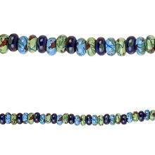 Bead Gallery Rondelle Beads, Ceramic, Close Up
