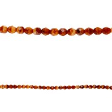 Bead Gallery Czech Faceted Glass Beads, Light Amber Swirl