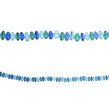 Bead Gallery Donut Beads, Sea Breeze Mix Glass