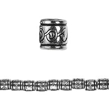 Bead Gallery Silver-Plated Acrylic Tube Beads, Close Up