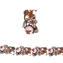 Bead Gallery Metal Slider, Pink Flower Small, Close Up