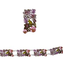 Bead Gallery Metal Slider, Pink Flower Large, Close Up
