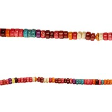 Bead Gallery® Howlite Rondelle Beads, Multicolor, Close Up