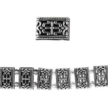 Bead Gallery Silver-Plated Slider, Decorative Pattern Close Up