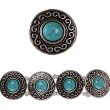 Bead Gallery Silver-Plated Slider, Turquoise Howlite Close Up