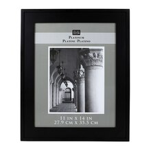 "Studio Decor Platinum Collection Mini Hampton Frame, Black 11"" x 14"""