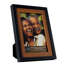 studio decor simply essentials blackhoney two tone frame