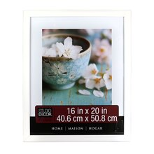 "Studio Décor Home Collection Flat Frame, White 16"" x 20"""