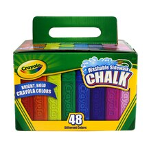 Crayola Washable Sidewalk Chalk, 48 Count