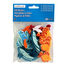 Creatology Felt Stickers, Shark Tales