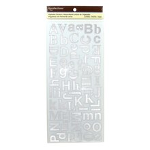 Foil Helvetica Alphabet Stickers by Recollections