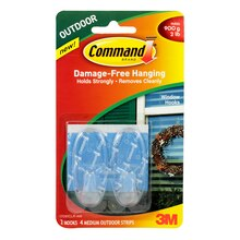 3M Command Medium Clear Window Hooks