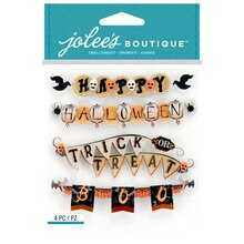 Jolee's Boutique Stickers, Vintage Halloween Banner Repeats