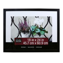 "Studio Décor Home Collection Flat Frame, Black 18"" x 24"""