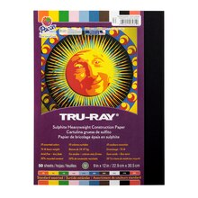 "Tru-Ray® Sulphite Heavyweight 9""x12"" Construction Paper, Assorted, medium"