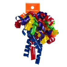 Celebrate It Lacquered Curling Ribbon Bow, Bright Mix