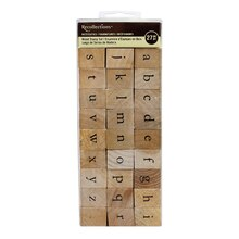 Recollections Necessities Wood Stamp Set, Lowercase Alphabet
