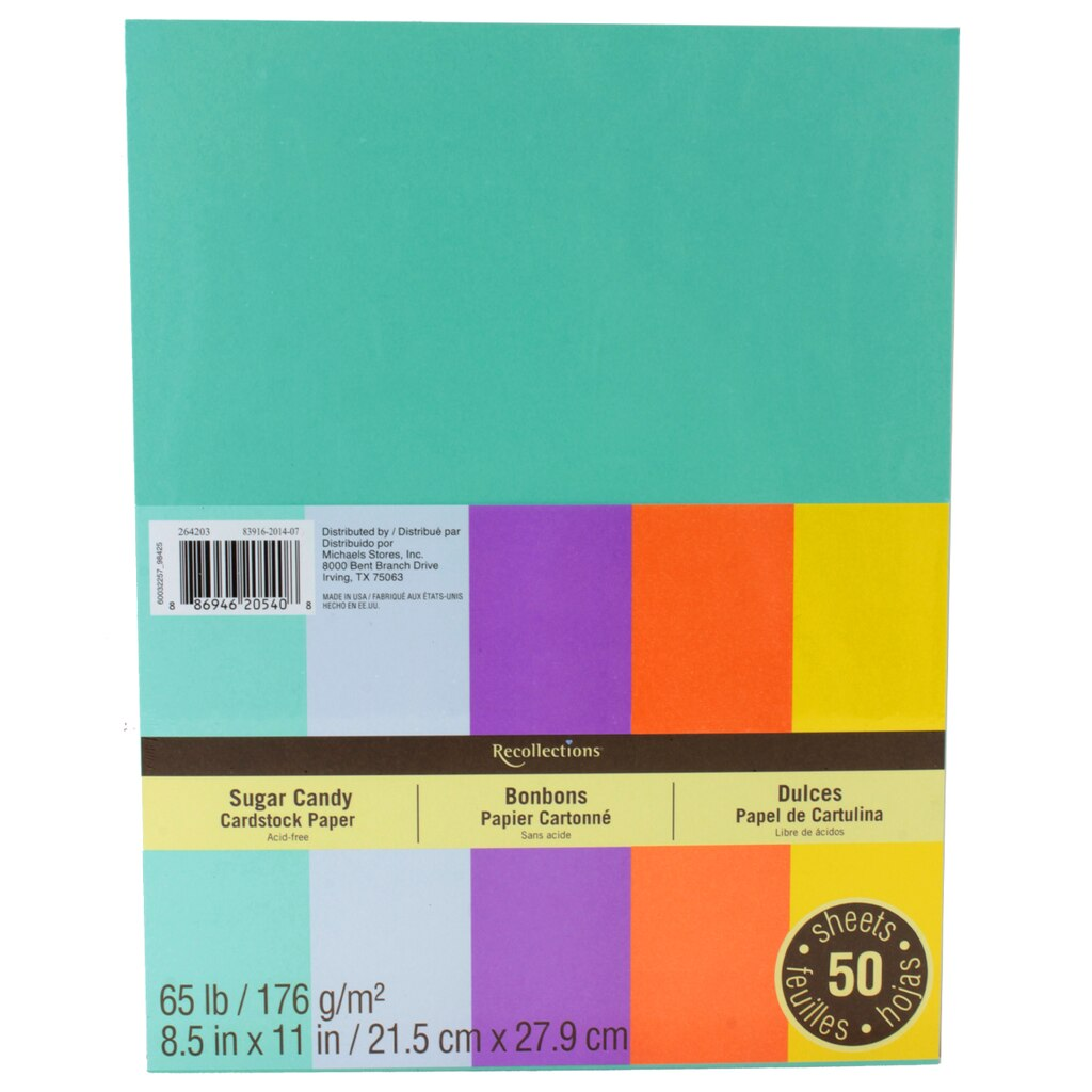 Gold color cardstock paper 5x7 - Recollections Sugar Candy Cardstock Paper