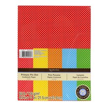 Primary Pin Dot Cardstock Paper by Recollections