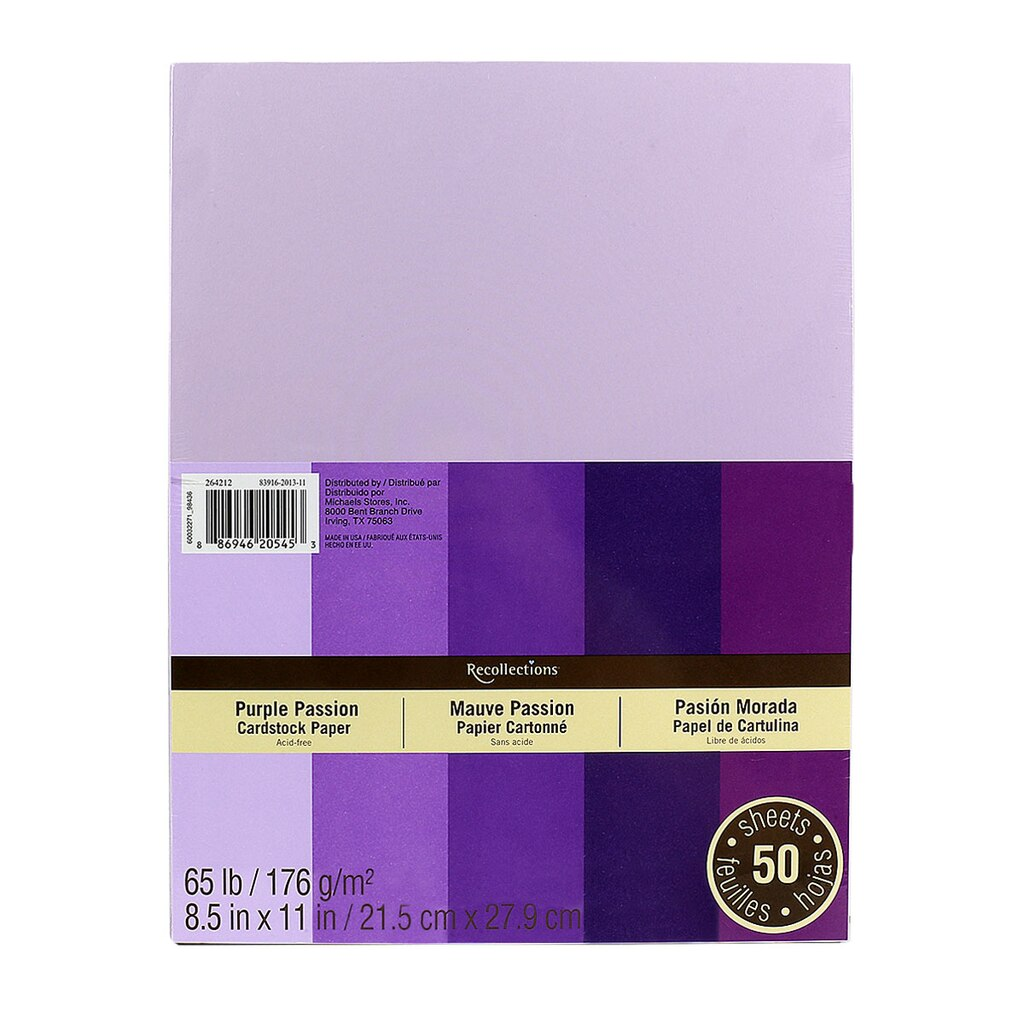 Cardstock paper options