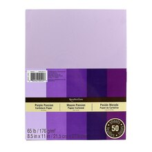 "Recollections Purple Passion Cardstock Paper, 8.5"" X 11"""