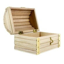 "ArtMinds Wood Treasure Chest, 5.12"" x 3.43"" x 3.54"""