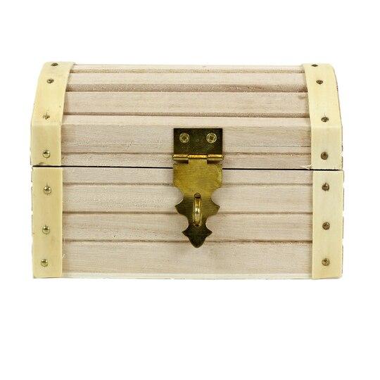 Artminds 174 wood treasure chest 5 12 quot x 3 43 quot x 3 54 quot