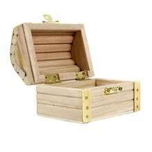 "ArtMinds Wood Treasure Chest, 2.36"" x 2.36"" x 3.54"" Open"