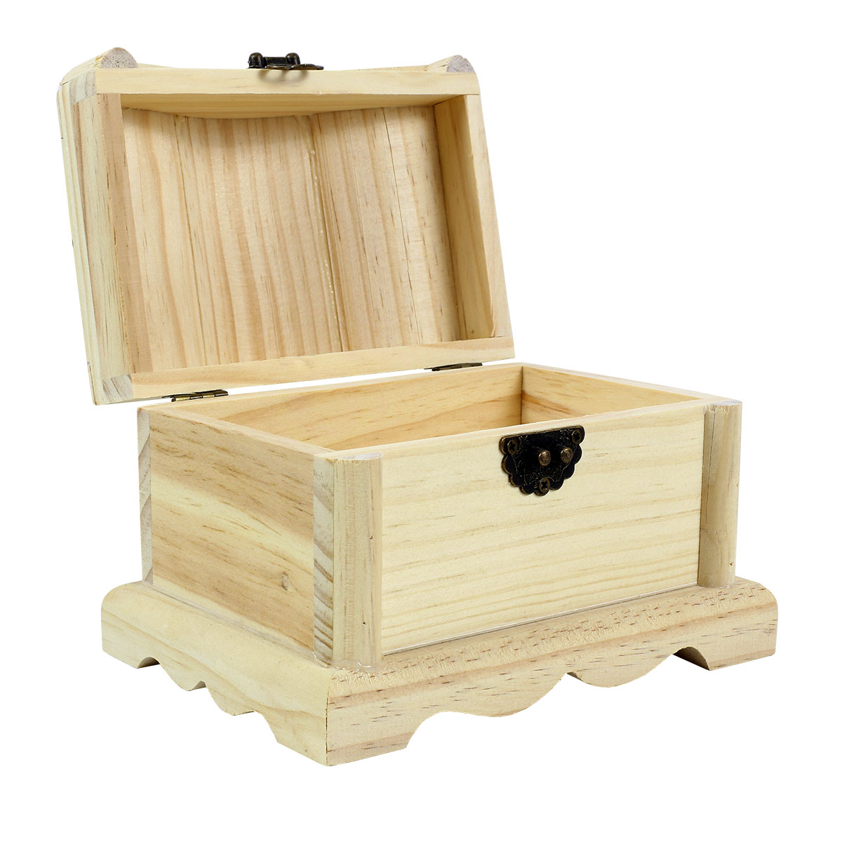 Unfinished Wood Treasure Chest ~ Artminds™ wood treasure chest quot