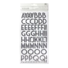 Thickers Duotone Glitter Chipboard Alphabet Stickers