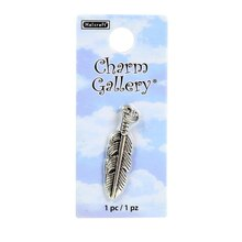 Charm Gallery Silver Plated Feather Charm