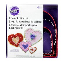 Wilton Cookie Cutter Set, Hearts, Packaging