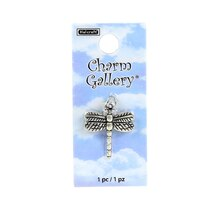 Charm Gallery Silver Plated Dragonfly Charm