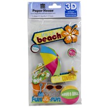 Paper House 3D Stickers, Life's A Beach