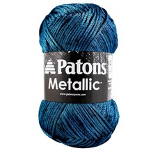 Patons Metallic Yarn, Blue Steel