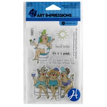 Art Impressions Clear Stamp Set, Beach Babes