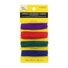 Bead Landing Bamboo Cording, Bold Colors