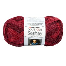 Red Heart Boutique Sashay Metallic Yarn, Rubies